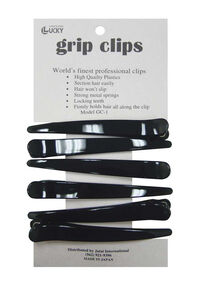 Black Grip Clips - 6 ct.