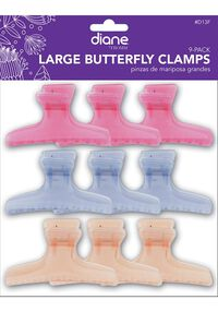 Frosty Butterfly Clamp - 9 ct.