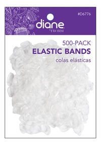 Clear Elastic Bands - 500 ct.