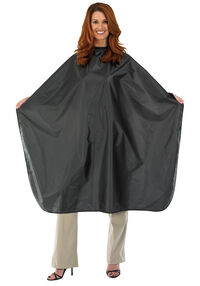 Nylon Chemical Barber Cape - Black