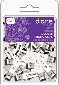 "1.75"" Double Prong Clips - 80 ct."