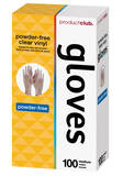 Powder-Free Clear Vinyl Disposable Gloves 100-pc.