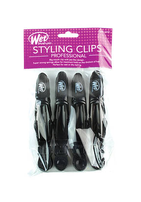 Double Hinge Clips 4-Pack - Black