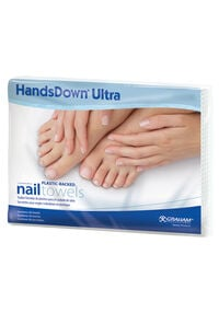 HandsDown® Plastic-Backed Nail Towels - 50 ct.