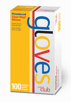 Clear Vinyl Disposable Gloves - 100 ct.