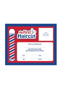 """My First Haircut"" Certificates"