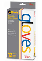 JetBlack Reusable Latex Gloves - 12 ct.