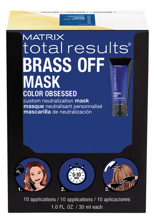 Brass Off Custom Neutralization Hair Mask Packettes (Box of 10)