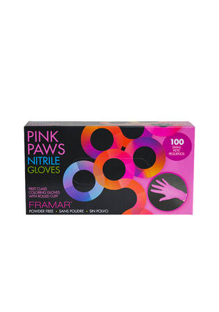 Pink Paws Nitrile Gloves - 100 ct.