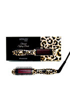 Limited Edition Stylus Mini Thermal Styling Brush - Leopard