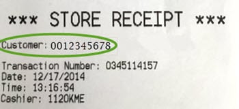 find your SalonCentric account number on your receipt