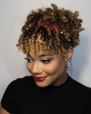 step 4 matrix elongated curls holiday tutorial