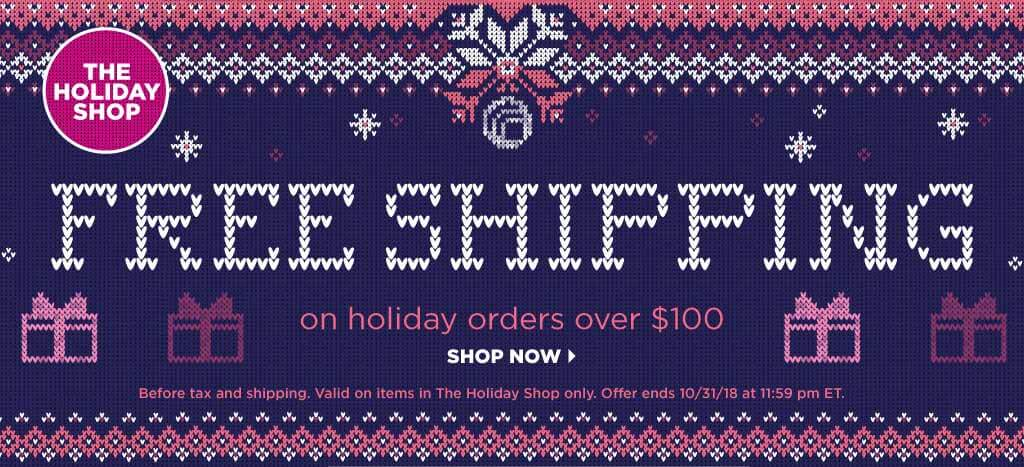 Holiday Shop Free Shipping