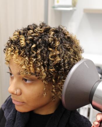 step 3 matrix elongated curls holiday tutorial