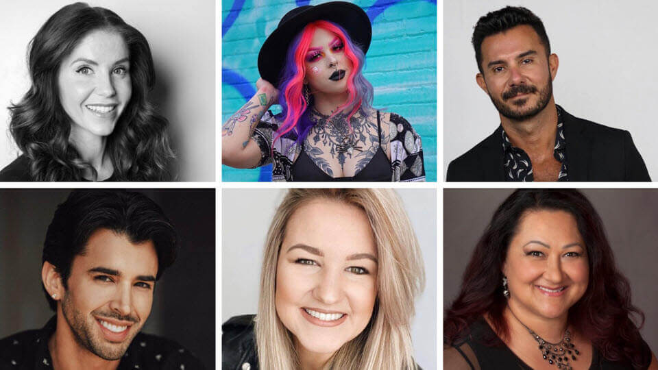 Headshots of featured artists | SalonCentric