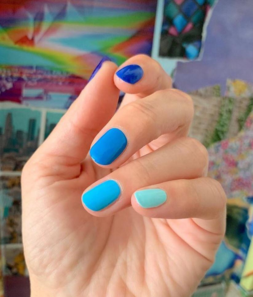 Monochromatic Nail art @stephstonenails